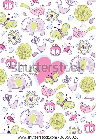 Vector - Children Birthday Card Celebration - 36360028