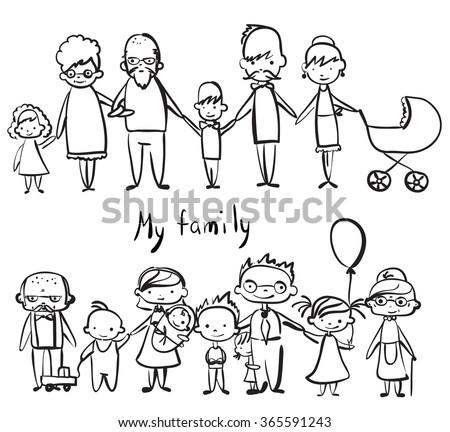vector children's doodle of