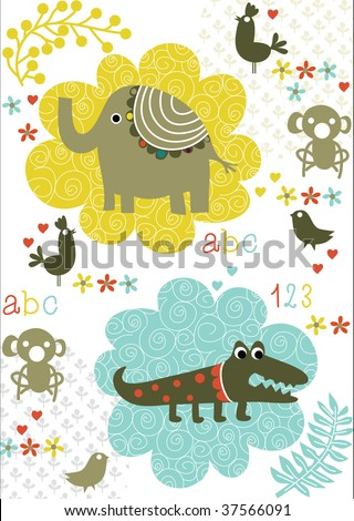 jungle animal pictures for kids. with jungle animals