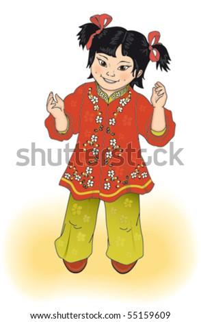 vector china girl