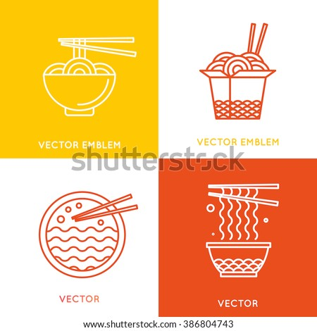 vector chinese and asian food