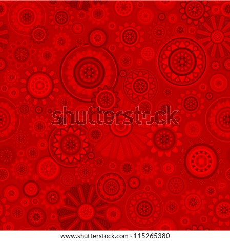 Vector chinese flower pattern (seamless)