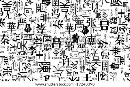 Vector Chinese Last Name With Pinyin Photo   SpiderPic Royalty Free ...
