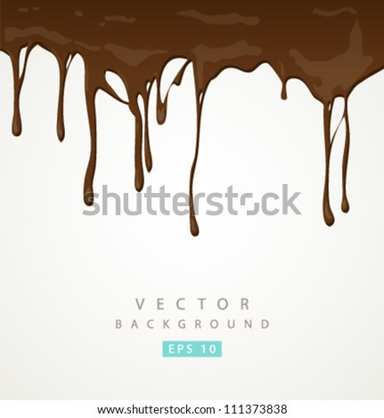 Vector chocolate and milk background