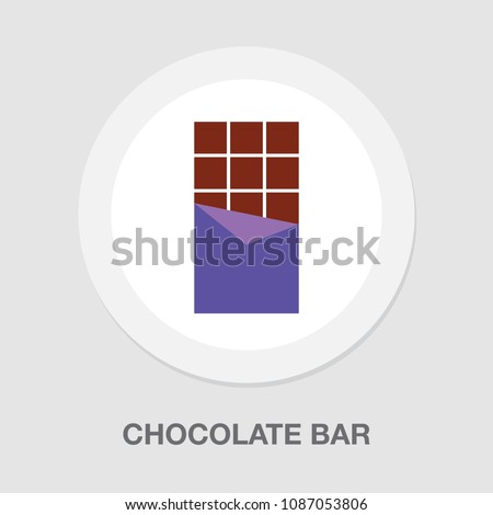 vector chocolate bar, food candy illustration isolated - sweet snack, eat dessert