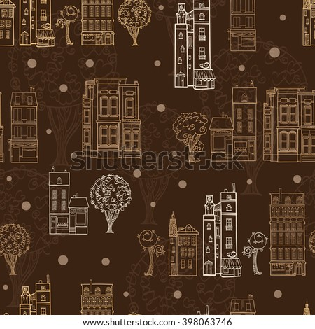 vector chocolate brown town