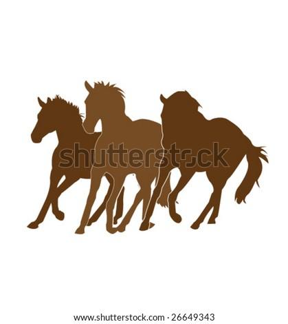 vector chocolate horses