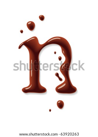 Vector chocolate letter - stock vector