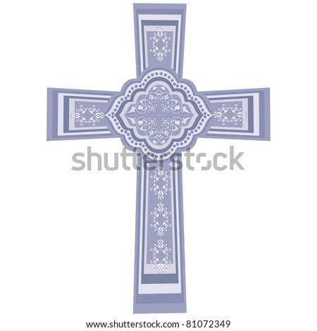 vector - CHRISTIAN CROSS. crucifix, symbol of the Christian faith. EPS8 organized in groups for easy editing.