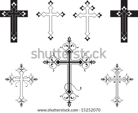 christian crosses pictures. Vector Christian Crosses