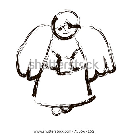 vector  christmas angel