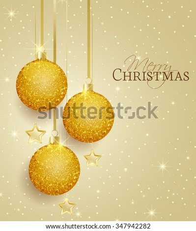 vector christmas balls on a