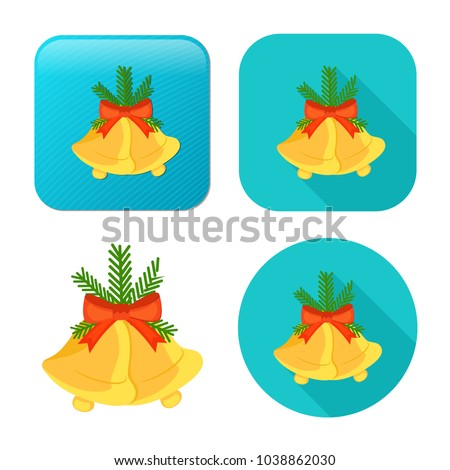 vector christmas bell icon - holiday celebration symbol - merry christmas object