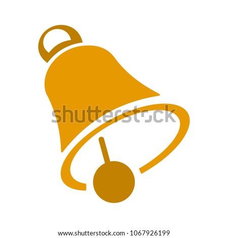 vector christmas bell illustration - holiday icon, xmas symbol - celebration icon