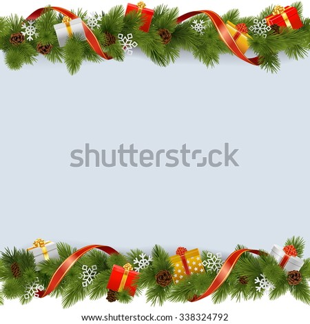 stock-vector-vector-christmas-border-with-gifts