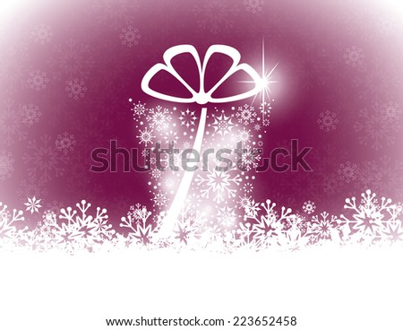 vector christmas card abstract