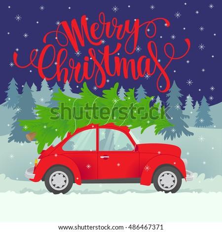 vector christmas card merry