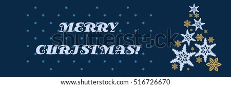 Vector christmas decorating design made of snowflakes. Colorful card template with copy space. Vector illustration abstract Christmas Background. A Christmas tree made from snowflakes.