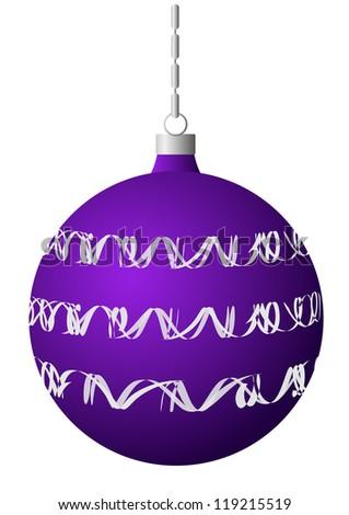 vector Christmas decoration - Christmas ball