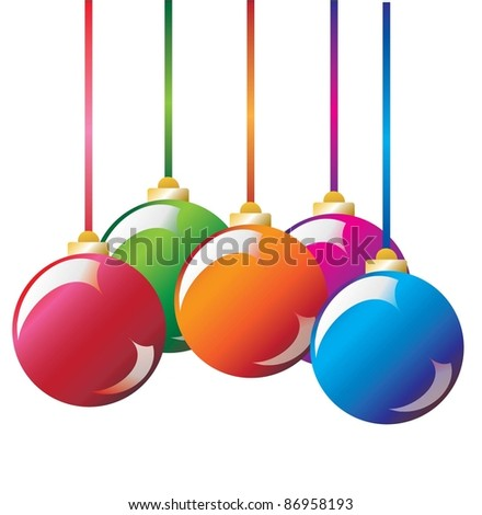 Vector. Christmas decoration: christmas ball
