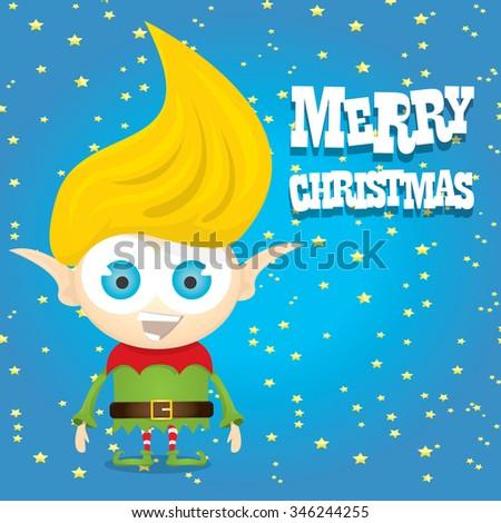 vector christmas elf  merry