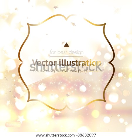 vector christmas frame