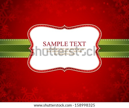 vector christmas frame and