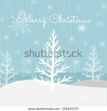 Vector Christmas Greeting Card. Merry Christmas lettering and background