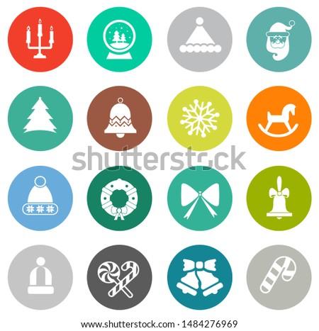 vector christmas icons set, celebration xmas holiday icons, winter icons