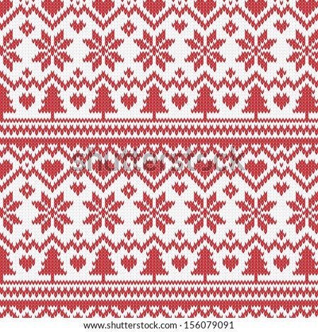 Vector Images Illustrations And Cliparts Vector Christmas Knitted