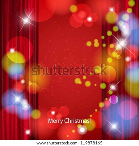 Vector Christmas or New Year abstract background.