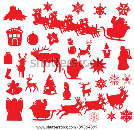 vector Christmas or New Year elements