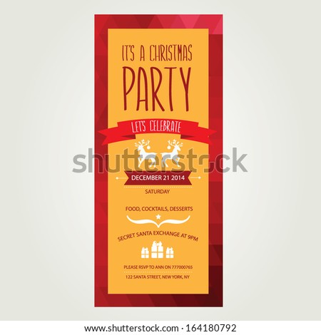 Royalty free beautiful floral card decorated 270370184 stock photo vector christmas party invitation with toys holiday background and design banner vector template with stopboris Image collections