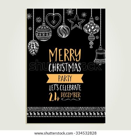 Christmas food vector illustration download free vector art stock vector christmas party invitation with toys holiday background and design banner vector template with stopboris Images