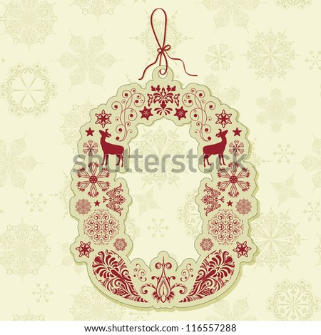 vector christmas sale tag on seamless winter pattern with  snowflakes, seamless pattern in swatch menu, eps 10 transparency effects