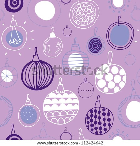 Vector christmas seamless pattern with tree balls