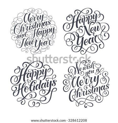 vector christmas set of