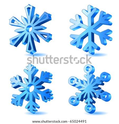 Vector christmas snowflake icons