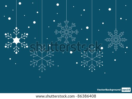 Vector christmas snowflakes background eps 10