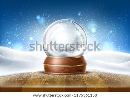 vector christmas snowglobe on