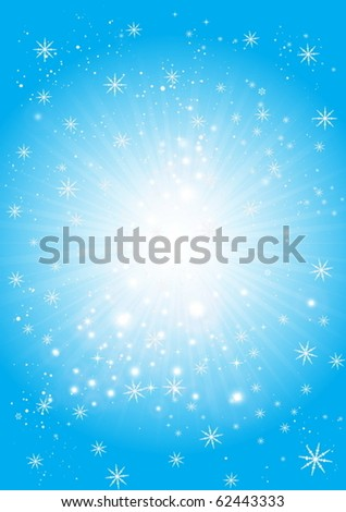 Vector Christmas snowing scene - Winter snowing vector background illustration