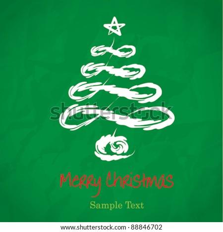 Vector Christmas Tree.decorated green Christmas tree. Christmas theme
