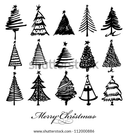 Vector Christmas Tree.Vector Images Illustrations And Cliparts Vector Christmas