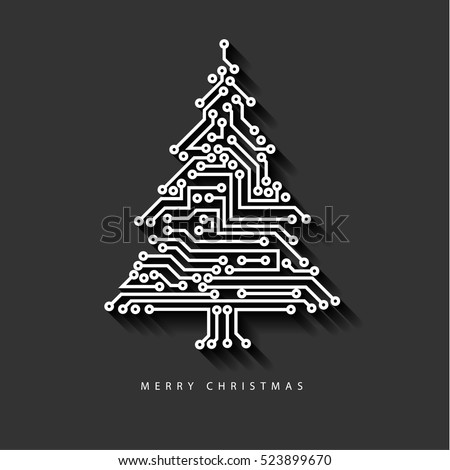 vector christmas tree from