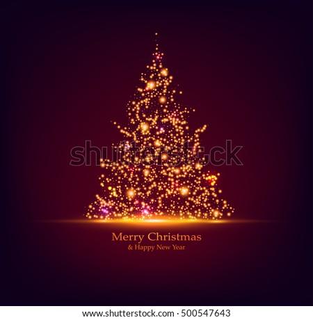 vector christmas tree holiday