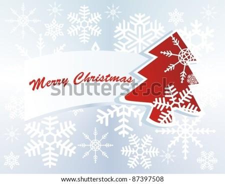 vector christmas tree label