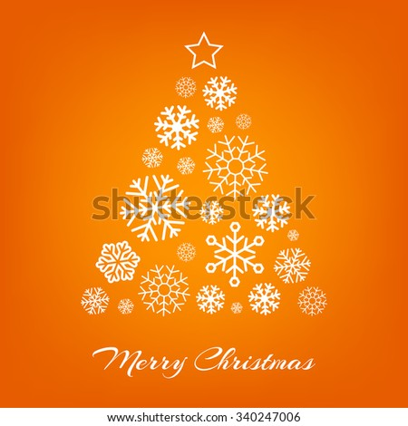 vector christmas tree made from