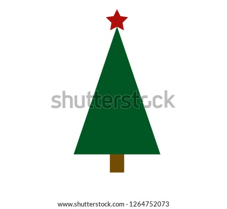vector Christmas tree on a white background #1264752073