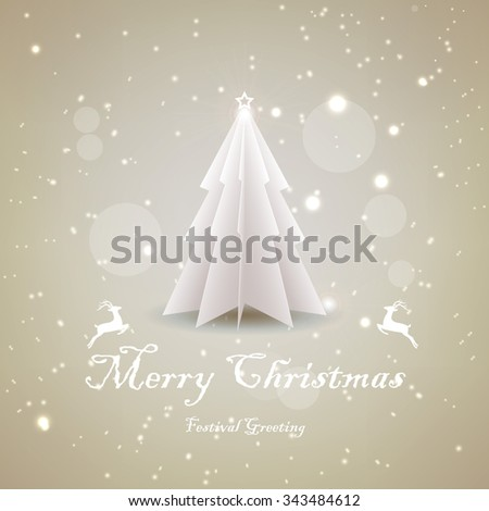 vector christmas tree   simple