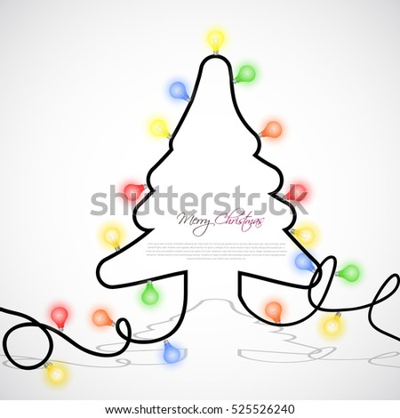 vector christmas tree with